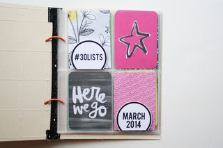 30 days of lists | march 2014 | title page
