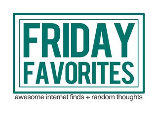 Friday favorites small graphic with text FINAL