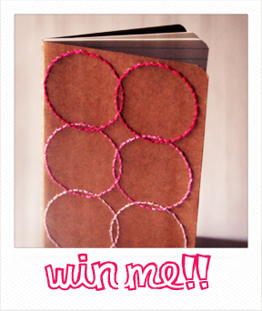 Pink circles moleskine pulp sushi giveaway