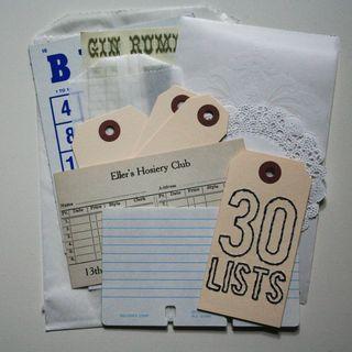30Lists embellishment pack