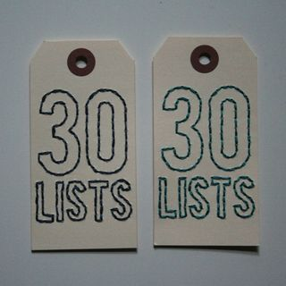 30Lists large vertical tag
