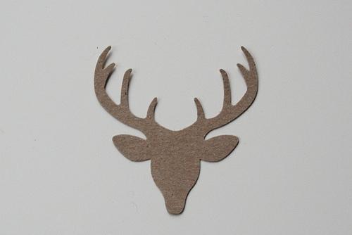 kraft deer head diecut